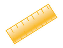 Ruler icon Royalty Free Stock Photo