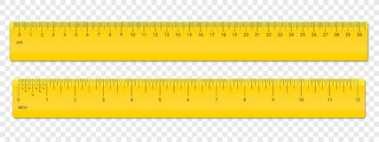Ruler centimeter and inches scale vector plastic vector illustration