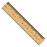 Ruler, instrument of measurement Stock Photo