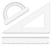Ruler instruments stock illustration