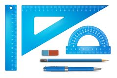 Ruler instruments royalty free illustration