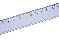 Ruler isolated on the white. Plastic ruler isolated on the white background Royalty Free Stock Photography