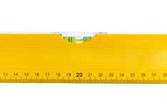 Ruler with level Royalty Free Stock Image