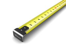 Ruler meter tape Royalty Free Stock Image