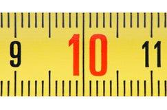 Ruler number ten close up. Stock Photography