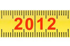 Ruler with numbers 2012 closeup. Stock Photos