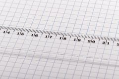 Ruler and paper. Royalty Free Stock Photos