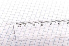 Ruler and paper. Stock Photos