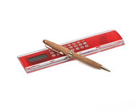 Ruler and pen Stock Image