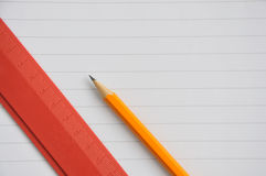 Ruler and pencil Royalty Free Stock Photos