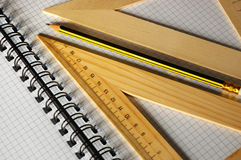 Ruler and pencil royalty free stock image