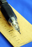 Ruler and pencil are tools for carpenters Royalty Free Stock Photography