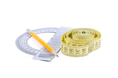 Ruler Protractor Royalty Free Stock Image