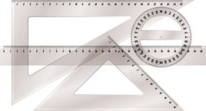 Ruler and protractor Stock Image