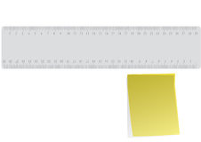 Ruler And Reminder Royalty Free Stock Images