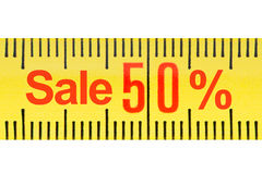 Ruler sale concept. Royalty Free Stock Photo