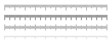Ruler scale measure vector measurement scale stock illustration