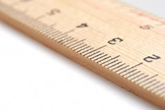 Ruler. Selective macro focus of numbers on a ruler royalty free stock photo