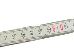 Ruler to 60 Stock Photo