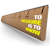 Ruler - To Measure Is To Know Royalty Free Stock Photo