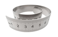 Metal ruler Royalty Free Stock Images