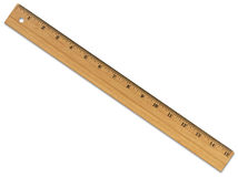 Ruler With Clipping Path Stock Photography