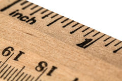 Ruler wooden, isolated on white background Royalty Free Stock Photos