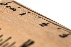 Ruler wooden, isolated on white background Stock Photo