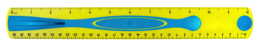 Ruler yellow Stock Photography