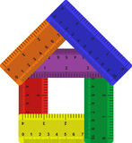 Rulers. House from rulers. Vector illustration Royalty Free Stock Images