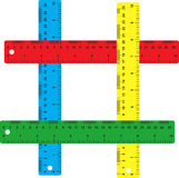 Rulers. There is four colored rulers Royalty Free Stock Image