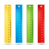 Rulers in centimeters Stock Images