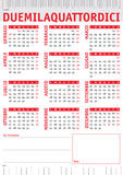 Rulers italian calendar 2014 Royalty Free Stock Photos