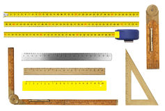 Rulers set isolated Royalty Free Stock Photo