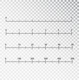 Rulers vector. Measuring tool. Centimeters and inches measuring scale cm metrics indicator. Scale for a ruler in inches vector illustration