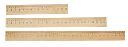 Rulers on a white background. Stock Photography