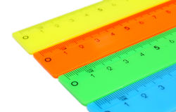 Rulers on a white background. Royalty Free Stock Images