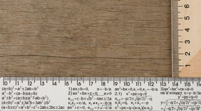 Rulers on wood background Stock Photography