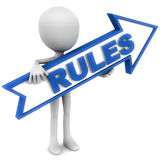 Rules royalty free illustration
