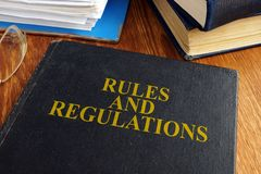 Free Rules And Regulations Book. Stock Photography - 137796762