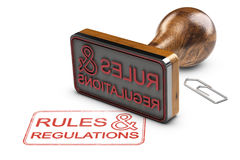 Free Rules And Regulations Over White Background Stock Photo - 95888460