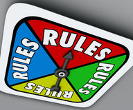 Rules Board Game Spinner Regulation Compliance Play Compete Stock Photography