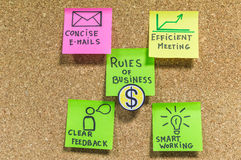 Rules of  business Royalty Free Stock Photo
