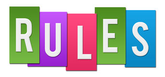 Rules Colorful Stripes Stock Image