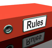Rules File Or Policy Guide Documents Stock Photos