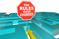 The Rules Have Changed Puzzle. Game New Instructions 3d Illustration Stock Images