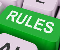 Rules Keys Shows Guidance Policy Or Regulations Stock Photos