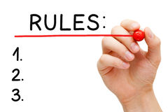 Rules Red Marker Stock Photography