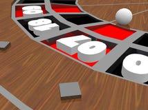 Ruleta del casino con la bola Imágenes de archivo libres de regalías