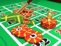 Ruleta del casino 3D Imagen de archivo